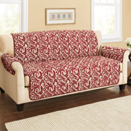 Reversible Scrolling Leaf Furniture Cover - 38271