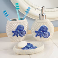 Blue Sea Shell Bath Accessories - 38426