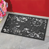 Decorative Butterfly Rubber Door Mat - 38438