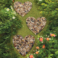 Heart Shaped Stone Mats - Set of 3 - 38447