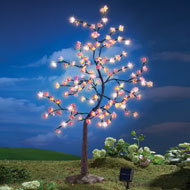 Pink Cherry Blossom Solar Lighted Tree - 38452