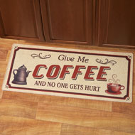 Give Me Coffee Novelty Kitchen Rug - 38481