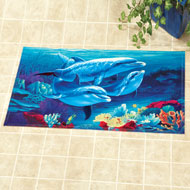 Dolphin Family Tropical Mat