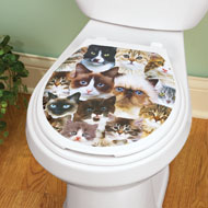 Cat Faces Toilet Tattoo Decal - 38486