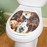 Dogs Faces Toilet Tattoo Decal - 38487