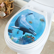 Dolphin Toilet Tattoo Decal - 38488