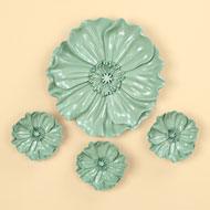 Floral Resin Wall Art- Set of 4