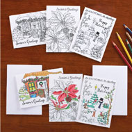 Holiday Cards to Color - Set of 24 - 38539