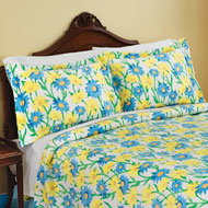 Blue and Yellow Daisy Fleece Pillow Sham - 38555