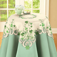 Embroidered Irish Shamrock Table Linens - 38588