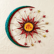 Metal Moon Sun and Stars Wall Decor - 38612