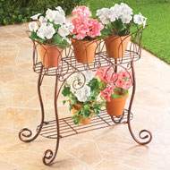 Elegant Plant Stand Display Cart - 38637