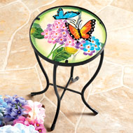 Garden Butterfly Glass Table - 38648
