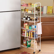 Slim Rolling Pantry 6 Tier Shelf