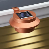 Copper Clip-on Gutter Solar Security Light