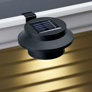 Black Clip-on Gutter Solar Security Light