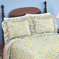 Daisy Plisse Ruffle Pillow Shams Set - 38714