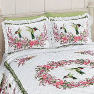 Hummingbirds & Floral Wreath Pillow Sham - 38715