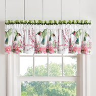 Hummingbird Wreath Curtain Valance - 38722