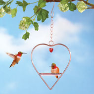Hummingbird Heart-Shaped Swing - 38761
