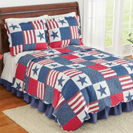 Americana Star Patchwork Quilt