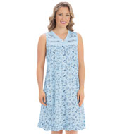 Ribbon Trim Floral Printed Night Gown - 38828