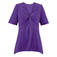 Knot Front Short Sleeve Tunic