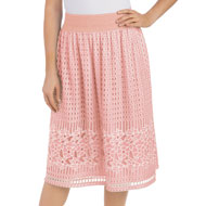 Geometric & Floral Lace Skirt with Elasticized Waist