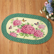 Hydrangea Bloom Braided Accent Rug - 38871