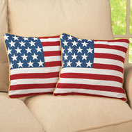 Americana Flag Pillow Covers - Set of 2 - 38881