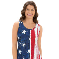 Patriotic Sharkbite Sleeveless Tank Top - 38913