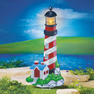 Nautical Lighthouse Solar Garden Stake - 38955