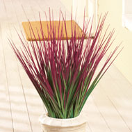 Faux Decorative Grass Bushes - Set of 3
