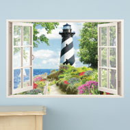 Nautical Lighthouse Window Wall Decal - 38995