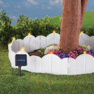 Solar White Garden Border - Set of 12 - 39104