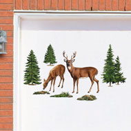 Grazing Deer Garage Door Magnets - 39129