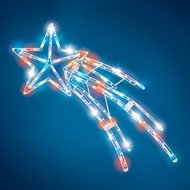 Lighted Patriotic Shooting Star - 39153
