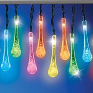 Solar Color Changing Raindrops Light String - 39160