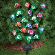 Color Changing Roses Solar String Lights