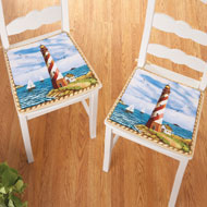 Nautical Lighthouse Chair Pads - Set of 2 - 39166