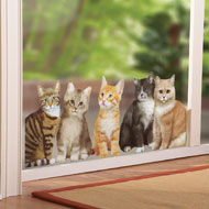 Watching Cats Window Cling Decal - 39193