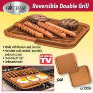 Gotham Steel Dual Sided Grill Square Pan - 39228