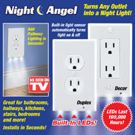 Night Angel Duplex LED Outlet Cover - 39229