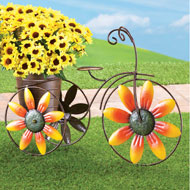 Charming Sunflower Tricycle Planter - 39367