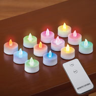 LED Tealight Candles with Remote - Set of 12