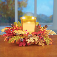Autumn Leaves Candle Holder Centerpiece - 39385