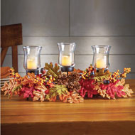 Fall Leaves LED Candle Centerpiece - 39386
