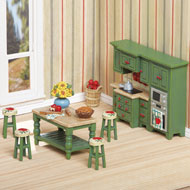Country Apple Miniature Kitchen Set - 39394