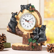 Woodland Bear Lodge Tabletop Clock - 39397