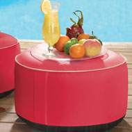 Inflatable Pouf Ottoman with Removable Cover - 39424